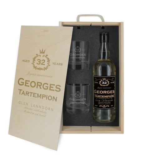Cofanetto whisky compleanno personalizzato