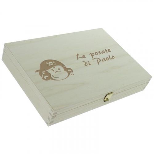 Posate scimmia pirata scatola