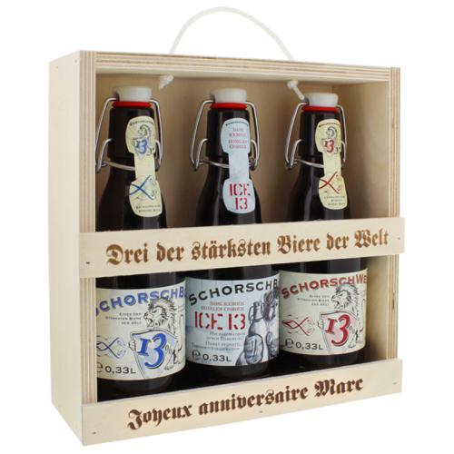 Tris birre personalizzato