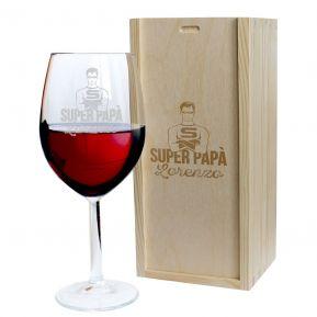 Calice da vino festa del papà