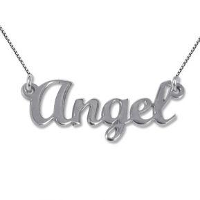 Collana con nome stile Angel