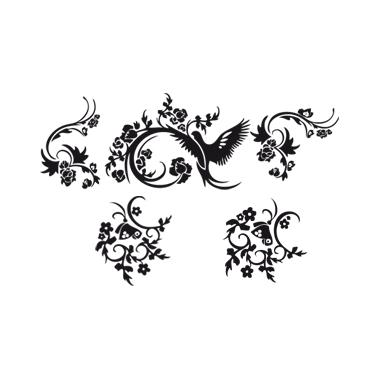 Sticker fantasia floreale
