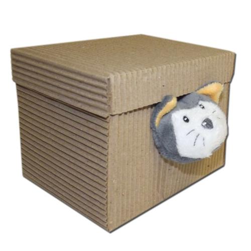 Doudou gatto in confezione regalo