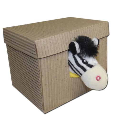 Doudou zebra in confezione regalo