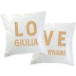 Coppia di cuscini LOVE personalizzati