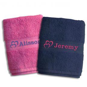 Coppia di asciugamani San Valentino personalizzati