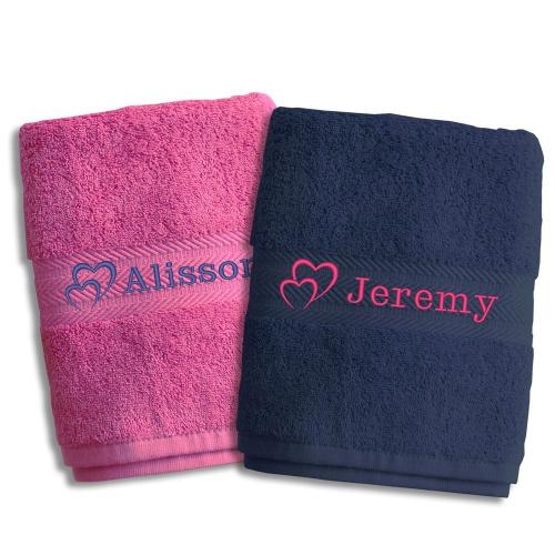 Coppia di asciugamani san Valentino