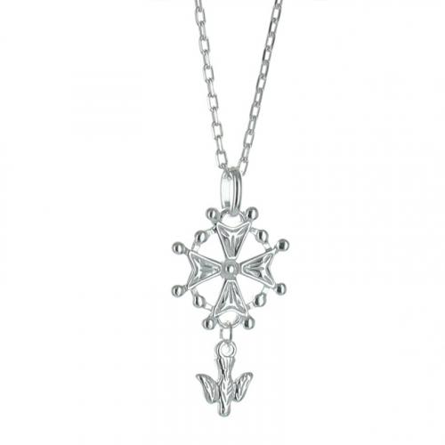 Croce ugonotta in argento
