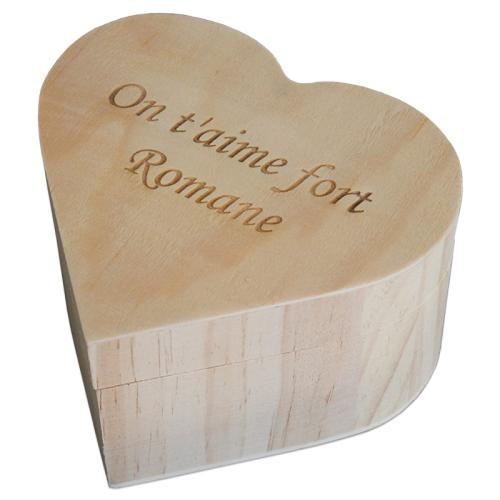 Cofanetto cuore legno