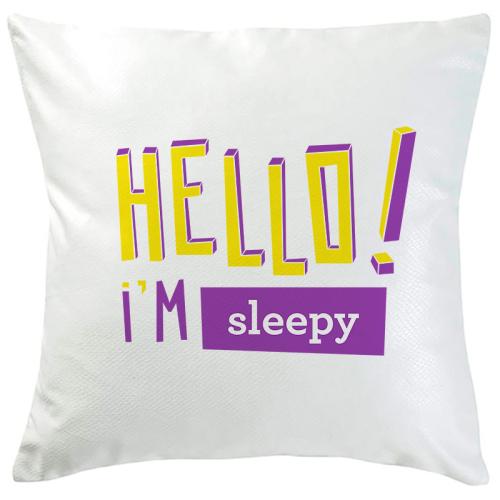 Cuscino personalizzato scritta colorata Hello