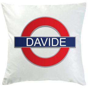 Cuscino metro Londra con nome