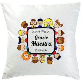 Cuscino personalizzato Grazie Maestra