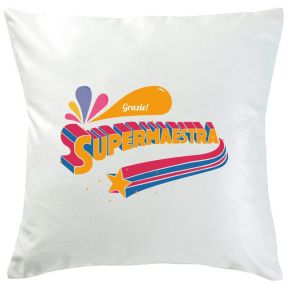 Cuscino personalizzato Super Maestra