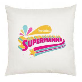 Cuscino Supermamma personalizzato con nome