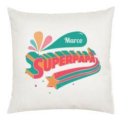Cuscino Superpapà personalizzato con nome