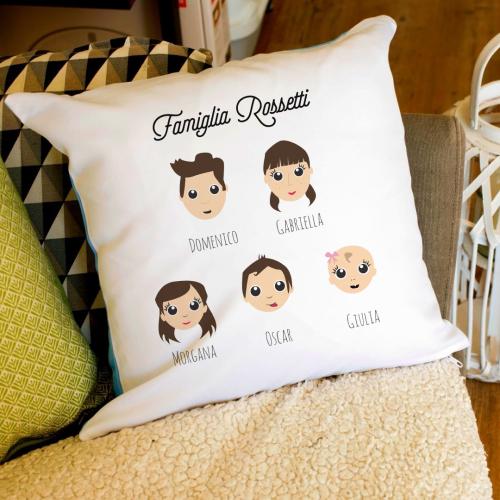Cuscino personalizzato WeAreFamily 3 persone