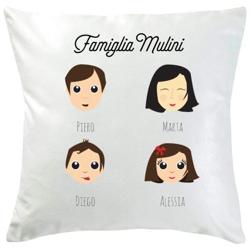 Cuscino personalizzato WeAreFamily 4 persone