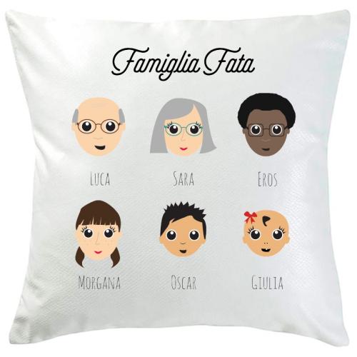 Cuscino personalizzato WeAreFamily 6 persone