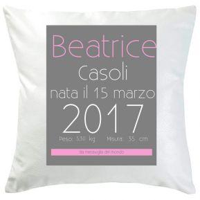 Cuscino di nascita design personalizzato