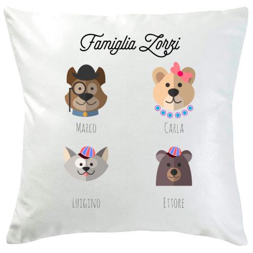Cuscino personalizzato 4 animali