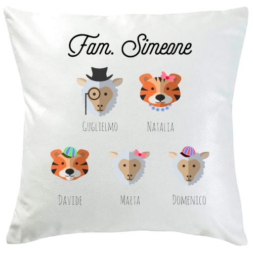 Cuscino personalizzato 5 animali
