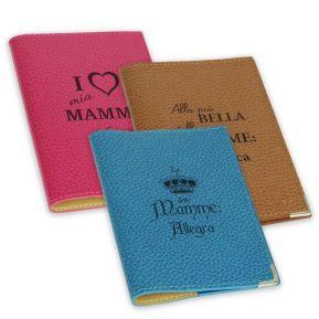 Custodia passaporto in pelle festa della mamma