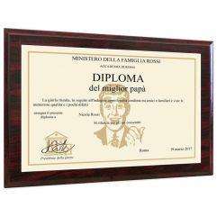 Diploma personalizzato con supporto in legno