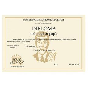 Diploma del Migliore Papà / Nonno