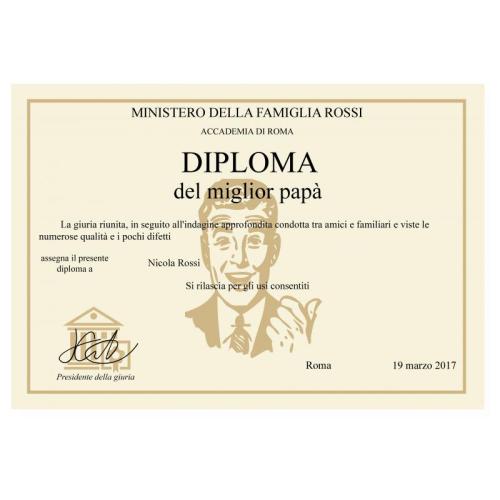 Diploma del Migliore Papà