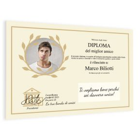 Diploma foto personalizzato