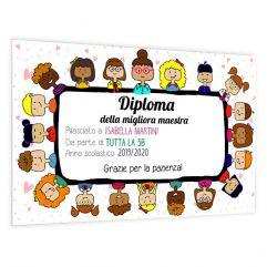 Diploma della migliore maestra