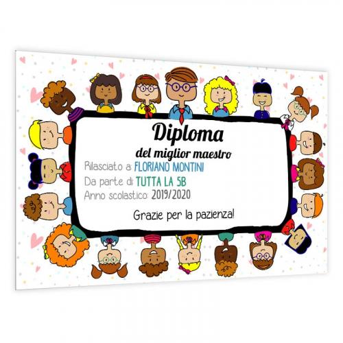 Diploma personalizzato maestro