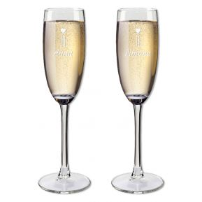 Flûte da champagne duo personalizzati