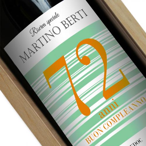 Etichetta vino personalizzata buon compleanno