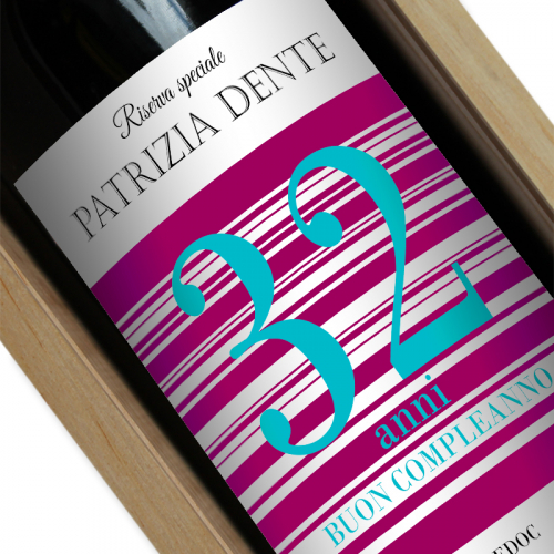 Bottiglia di vino personalizzata per comple