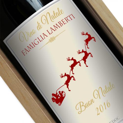 Bottiglia di vino personalizzata per Natale