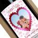 Bottiglia di vino personalizzata con cuore e foto