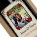 Bottiglia vino con etichetta personalizzata cuori cornice