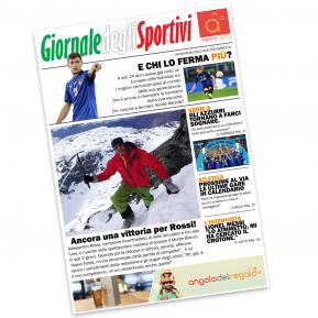 Finta prima pagina giornale sportivo