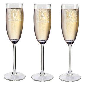 Flûte da champagne con iniziale