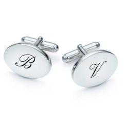 Gemelli ovali placcato argento