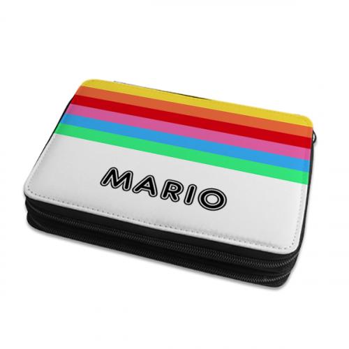 Grande astuccio personalizzato arcobaleno