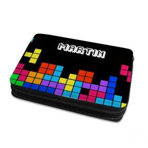 Grande astuccio per matite e colori tetris personalizzato