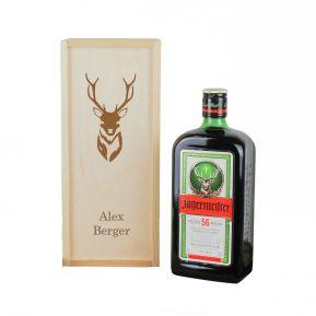 Jägermeister con scatola personalizzabile