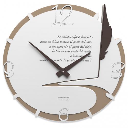 Orologio da parete con scritta
