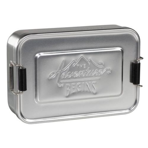 Lunch Box alluminio argentata The Adventure Begins