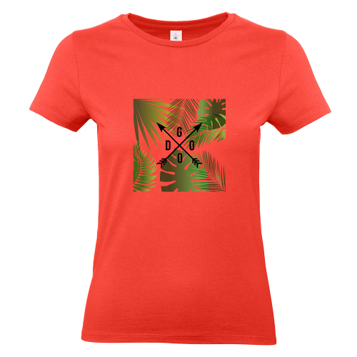 T-shirt donna Caledonia lettere