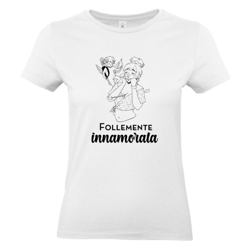 T-shirt donna carattere nome stampa
