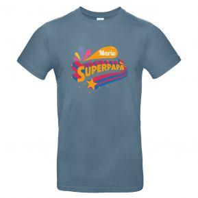 T-shirt uomo personalizzata Superpapà