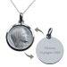 Ciondolo Vergine Maria in argento personalizzabile